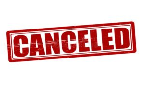April  Meetings Canceled