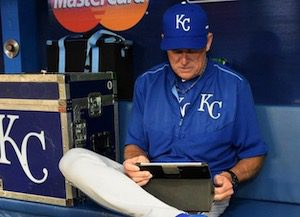 MLB and iPads in Dugout