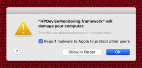 "macOS warns that HP, Amazon software ""will damage your computer"""