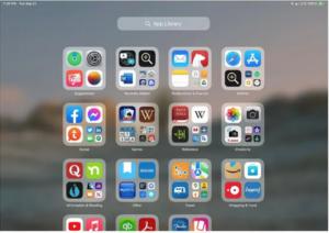 iPadOS 15 App Library
