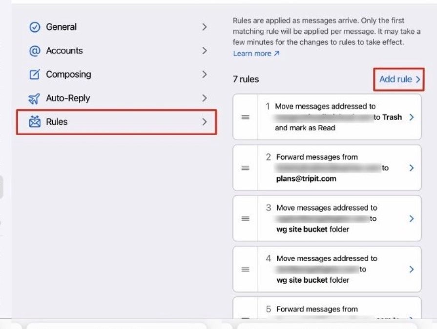 How to use iCloud mail to create rules that automatically sort, delete …